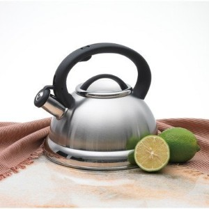 Alpine Stainless Steel Finish Encapsulated Base 18/10 Whistling Tea Kettle Pot by Alpine Cuisine