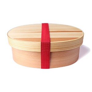 Japanese Wappa Bento Box Handcrafted From Cedar Wood - Lunchbox with Internal Separator (Light) by...