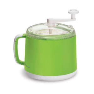 Donvier Manual Ice Cream Maker, 1-Quart, Green by Donvier