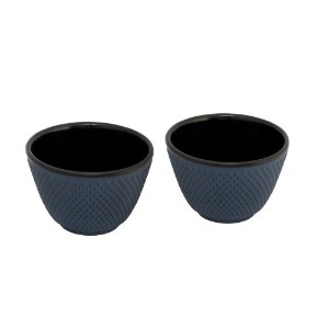 Bredemeijer Xilin G004B Asian Teacups Cast Iron Dimpled Set of 2 Blue by Bredemeijer