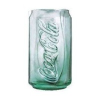Luminarc Glass Embossed Coke Can 12oz Glass Green by Luminarc