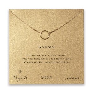 Dogeared Karma Necklace , Gold Dipped–16インチ