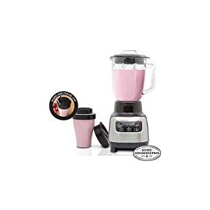FARBERWARE 4-Speed Digital Blender With Travel Cup, Stainless Steel by SuperFood