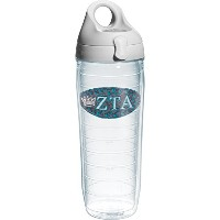 Tervis Zeta Tau Alpha Fraternity Water Bottle with Lid, 24 oz, Clear by Tervis