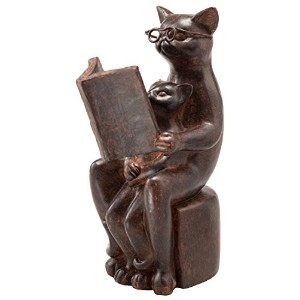 トスダイス オブジェ ANTIQUE FINISHED READING CATS STAND 11093930