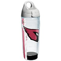 Tervis 1104740 NFL Arizona Cardinals Wrap Individual Water Bottle with Gray lid, 24 oz, Clear by...