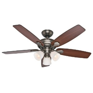 Hunter Fan Company 53052 Conway 52-Inch Antique Pewter Ceiling Fan with Five Cherried Walnut/Burnt...