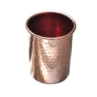 set of 10 pure handmade 100% Copper tumbler drinkware cup for water india by Karmakara