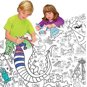 Colour-in Knights & Maidens Tablecloth by EggNogg