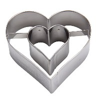 Birkmann バークマン Cookie cutter ハート Heart with extra heart on the inside 122161 クッキー型 並行輸入品 [並行輸入品]