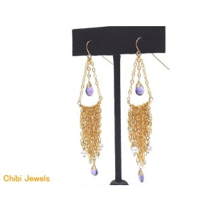 chibi jewels/チビ・ジュエルズamethyst earrings