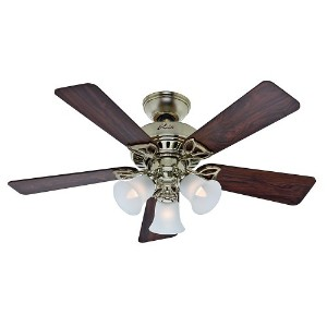 Hunter Fan Company 53080 The Beacon Hill 42-Inch Ceiling Fan with Five Rosewood/Medium Oak Blades...