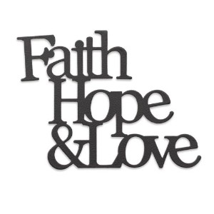 Demdaco Embellish Your Story Faith, Hope and Love Phrase Magnet by Embellish Your Story