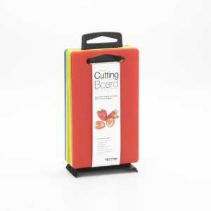 LindenスウェーデンバーCutting Board Set , Includes Stand and 4ボード