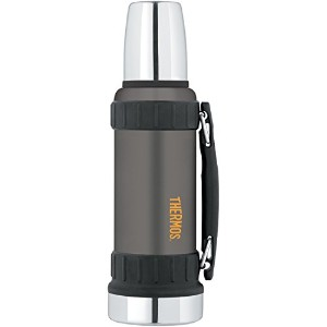 Thermos Work Series Beverage Bottle, 40-Ounce, Gunmetal Gray トラベル マグ タンブラー 水筒 1150ml