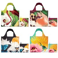 LOQI Botany Collection Pouch Reusable Bags, Multicolored, Set of 4 by LOQI