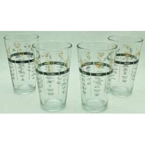 Cocktail recipe glasses by Libbey