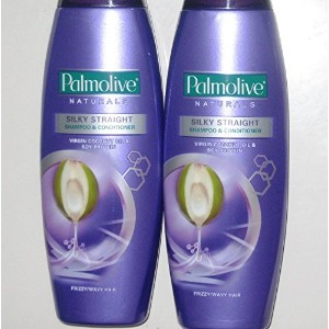 Lot of 2 Palmolive Naturals Silky Straight Shampoo & Conditioner Frizzy/Wavy Hair 180ml [並行輸入品]
