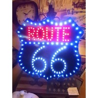 【アメリカン雑貨】LED DIECUT BOARD★ROUTE66★