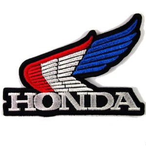HONDA WING RACING MOTORCYCLES BIKER JACKET VINTAGE EMBROIDERED IRON ON PATCHES WITH FREE GIFT by H...