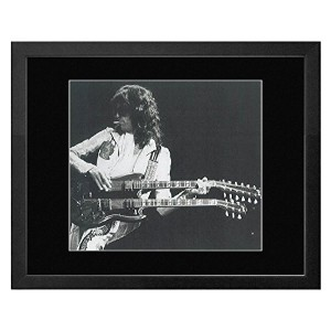 Led Zeppelin - Jimmy Page By Terry O'Neill 1977 Framed Mini Poster - 23.5x28.5cm