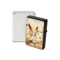 S. Fenech Pocket Vintage Windproof lighter ライター Brushed Oil Refillable Unicorn tree