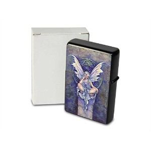 S. Fenech Pocket Vintage Windproof lighter ライター Brushed Oil Refillable Fairy Portrait Paintings