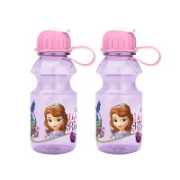 Zak! Designs Tritan Water Bottle with Flip-up Spout with Sofia the First Graphics, Break-resistant...