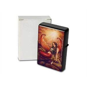 S. Fenech Pocket Vintage Windproof lighter ライター Brushed Oil Refillable Mermaid Skull