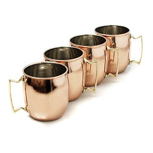 MOSCOW MULE SET OF 4 16 OUNCE MUGS SOLID COPPER by Home Select