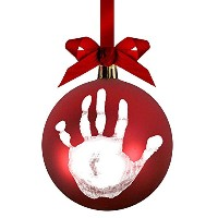 Pearhead Babyprints DIY Handprint or Footprint Ball Ornament, Red [並行輸入品]