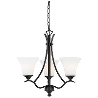 Vaxcel H0094 Cordoba 3-Light Chandelier, Noble Bronze by Vaxcel