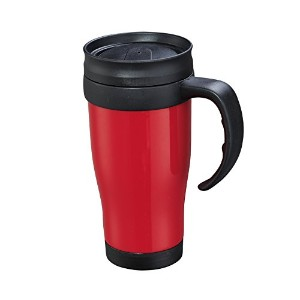 Cilio - Insulated Thermic Car Mug - Double Walled to Keep Drinks Warmer Longer - 0.4l - Red/Black