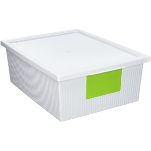 STERILITE ID Storage Bin, 10.2 Quart, White by STERILITE