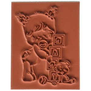 "Swiss Pixie Cling Stamp 3.25""X2.25"" -Baby Girl (並行輸入品)"