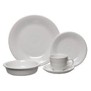 Fiesta 5-Piece Place Setting, White by Unknown