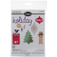 Sizzix Thinlits Dies 13/Pkg By Basic Grey-Holiday Icons, Ornaments & Tags (並行輸入品)