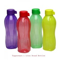 TP-720-T1 Tupperware Aquasafe Sports Water Bottle (Screw Top Round 1Ltr., 4 Pcs) by Tupperware
