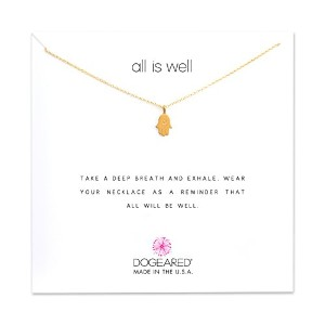 "Dogeared All Is Well Hamsa Gold Dipped Reminder Boxed 16 ""ネックレス"