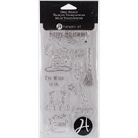 "Outlines Clear Stamp Set 4""X8"" Sheet-The Witch Is In (並行輸入品)"