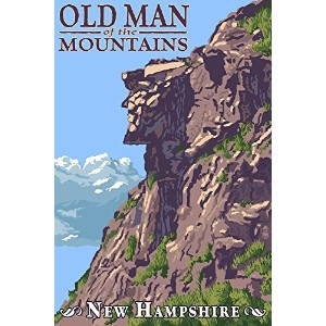 Old Man of the Mountains–New Hampshire 16 x 24 Giclee Print LANT-34129-16x24