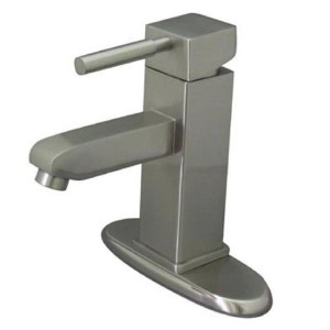 Kingston Brass KS8448DL Single Handle 4 in. Centerset Lavatory Faucet with Push-Up & Optional Deck...