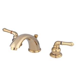 Kingston Brass KB962ALL Two Handle 4 in. to 8 in. Mini Widespread Lavatory Faucet with Retail Pop-up