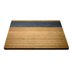 Vinotemp Epicureanist竹& Slate Cheese Serving Tray ブラウン EP-BBSLTRY