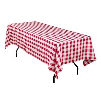 ArtOFabric Red and White Checkered Polyester Picnic Tablecloth 60 X 84 Inch by ArtOFabric