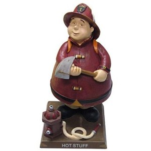 Russ Berrie: Bobble Guyz Firefighter Figurine