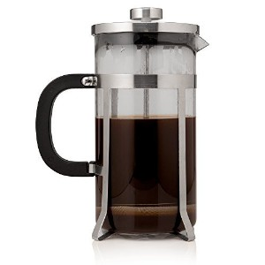 Cafe Deluxe French Press Coffee Maker & Coffee Press - 1 Liter,FREE Video Bonus, Stainless Steel by...