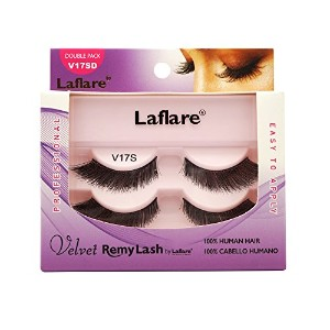 (3 Pack) LAFLARE Velvet Remy Lash Double Pack - V17SD (並行輸入品)