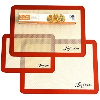 Ludy's Kitchen 3-Pc Silicone Bakeware Set - Professional Grade Silicone Baking Mats - Replaces...