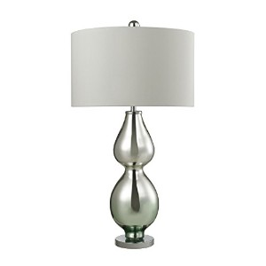 Diamond D2560 Double Gourd Table Lamp, Light Green Mercury by Diamond Collection